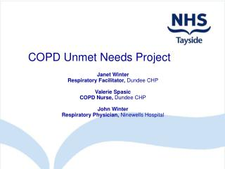 COPD Unmet Needs Project