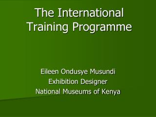 The International Training Programme