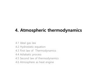 4. Atmospheric thermodynamics