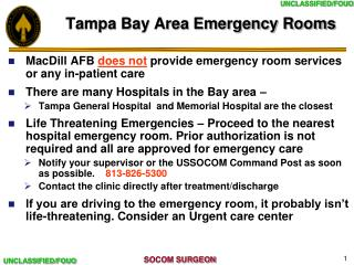 Tampa Bay Area Emergency Rooms