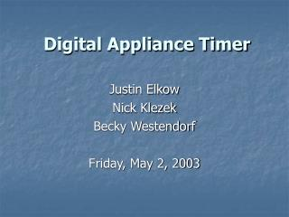 Digital Appliance Timer