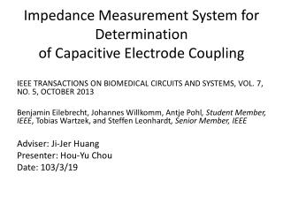 Impedance Measurement System for Determination of Capacitive Electrode Coupling