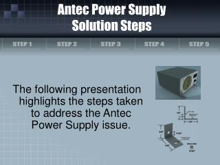 Antec Power Supply Solution Steps