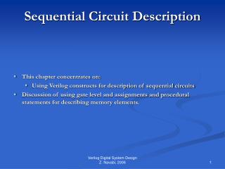 Sequential Circuit Description