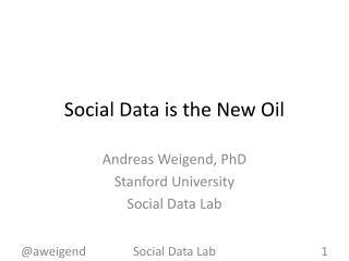 Social Data is the New Oil