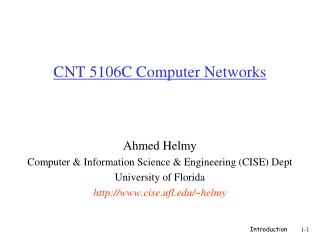 CNT 5106C Computer Networks