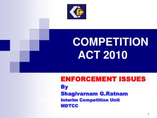 COMPETITION ACT 2010