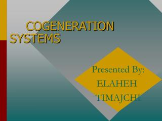 COGENERATION SYSTEMS
