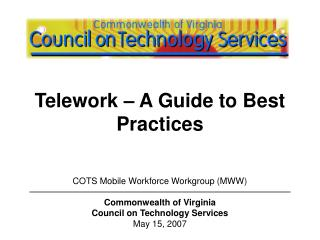 Telework – A Guide to Best Practices