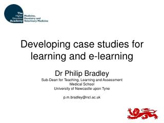 Developing case studies for learning and e-learning