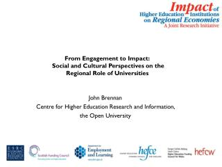 From Engagement to Impact:  Social and Cultural Perspectives on the Regional Role of Universities