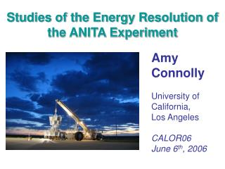 Studies of the Energy Resolution of the ANITA Experiment