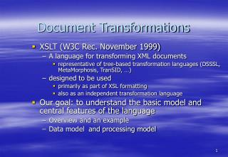 Document Transformations