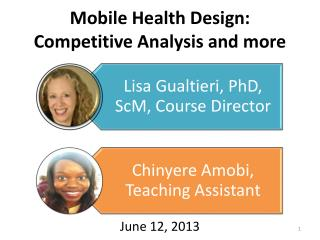 Mobile Health  Design: Competitive Analysis and more