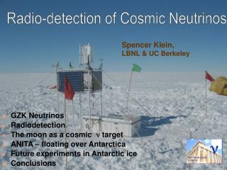 Spencer Klein,  LBNL & UC Berkeley