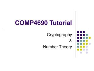 COMP4690 Tutorial