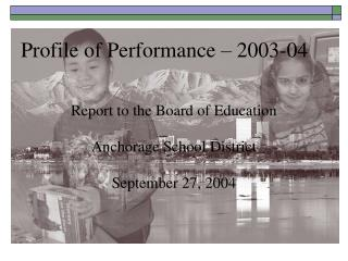 Profile of Performance – 2003-04