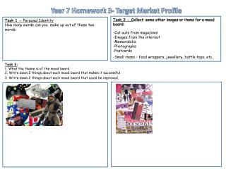 Year 7 Homework 3- Target Market Profile