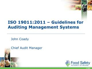ISO 19011:2011 – Guidelines for Auditing Management Systems
