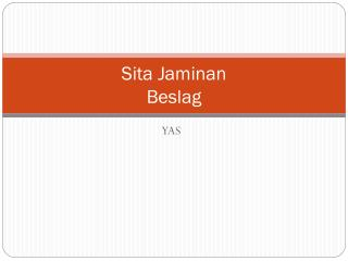 Sita Jaminan Beslag