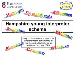 Hampshire young interpreter scheme