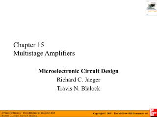 Chapter 15 Multistage Amplifiers