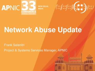 Network Abuse Update