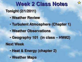 Week 2 Class Notes