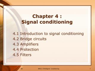 Chapter 4 :  Signal conditioning