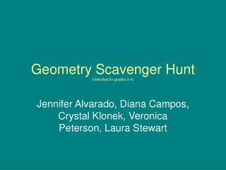 Geometry Scavenger Hunt (intended for grades 3-4)