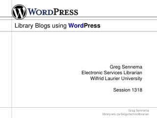 Library Blogs using  Word Press