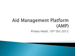 Aid Management Platform  (AMP)