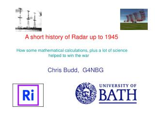 A short history of Radar up to 1945