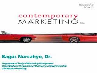Bagus Nurcahyo, Dr.  Programme of Study of Marketing Management