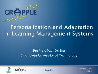 Personalization  and Adaptation in Learning Management Systems
