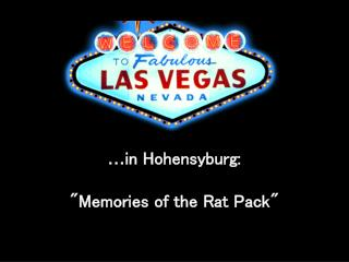 "… in Hohensyburg:  ""Memories of the Rat Pack """