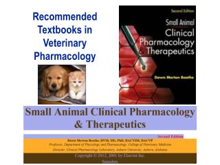 Recommended Textbooks in Veterinary Pharmacology