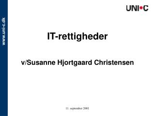 IT-rettigheder v/Susanne Hjortgaard Christensen