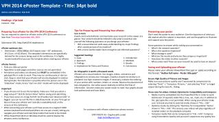 VPH  2014 ePoster Template - Title:  34pt  bold Authors and affiliations:  13pt  bold