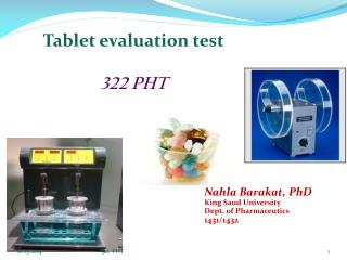 Tablet evaluation test 322 PHT