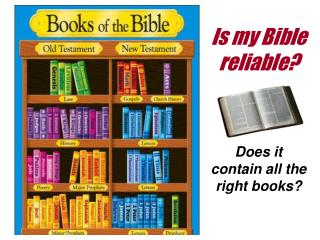 Is my Bible reliable?