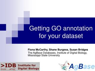 Getting GO annotation for your dataset