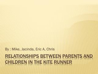 Relationships Between Parents and Children in The Kite Runner