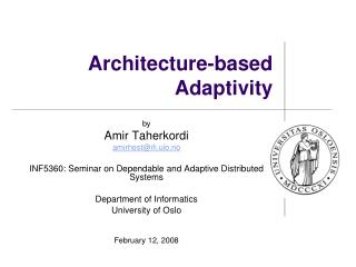 Architecture-based Adaptivity