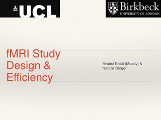 fMRI Study Design & Efficiency