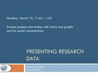 Presenting Research Data