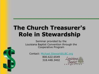 The Church Treasurer's Role in Stewardship