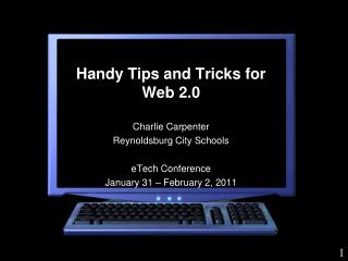 Handy Tips and Tricks for Web 2.0