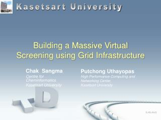 Building a Massive Virtual Screening using Grid Infrastructure