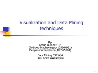 Visualization and Data Mining techniques